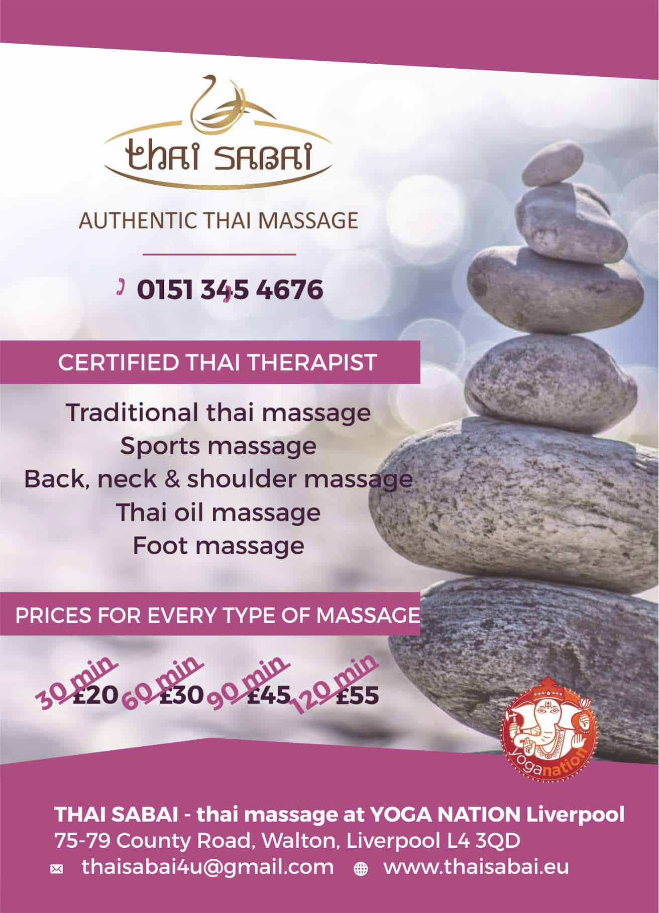 thai massage liverpool thai sabai